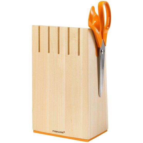Knivblokk i bjørketre for 5 kniver