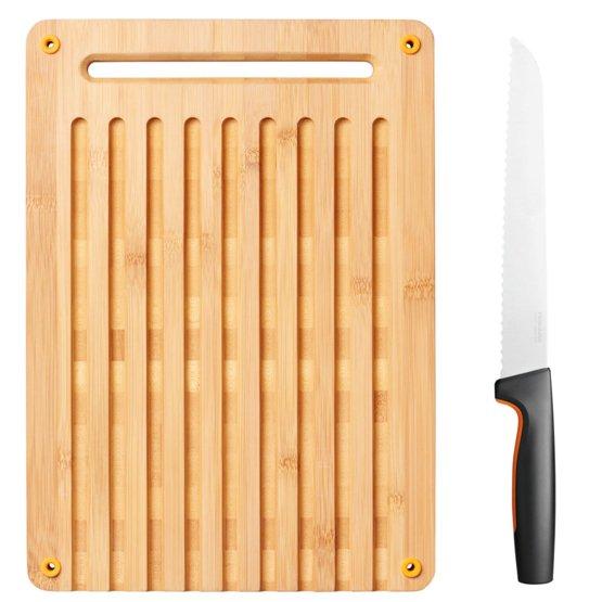 Functional Form Skjærebrett Bambus m/brødkniv
